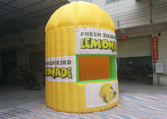 Lightweight Inflatable Lemonade Stand One Door And One Window Long Life Span