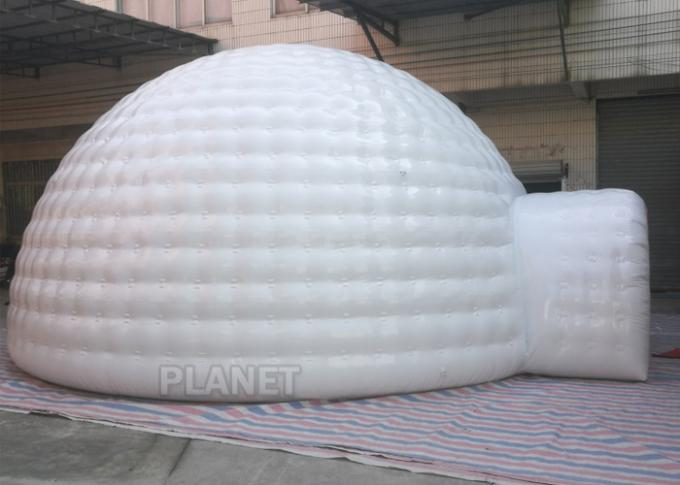 Giant Inflatable Igloo Tent , White 3.5 M Height Inflatable Outdoor Tent