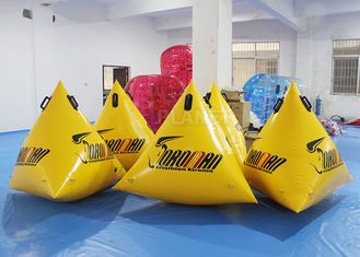 China PVC Triangle Inflatable Marker Buoy / Swimming Buoy Markers For Sea supplier