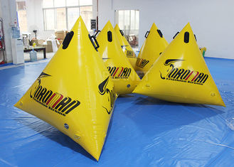 PVC Triangle Inflatable Marker Buoy / Swimming Buoy Markers For Sea