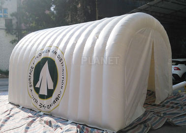 White Advertising Inflatable Tent , UV Resistant Inflatable Shelter Tent