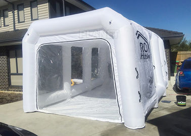 White Inflatable Auto Paint Booth / Spray Paint Tent Customized Size