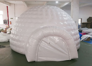 White Inflatable Igloo Tent Outside Diameter 4.8 Meter CE Certificated