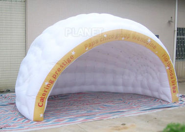 Commercial Inflatable Igloo Tent Semi Circle Logo Printing Fire Retardant