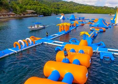 Large Inflatable Water Obstacle , Aqua Blow Up Water Park CE Approved