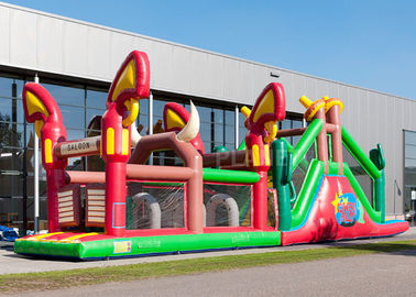 Reliably Blow Up Obstacle Course 17.0 X 3.6 X 4.7 M Fourfold Stitching