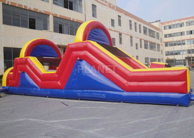 Indoor / Outside Inflatable Obstacle Course Training Course Equipment