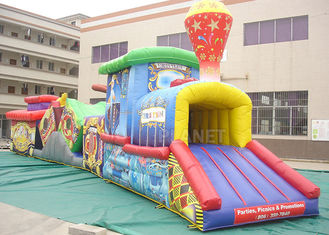 Challenge Race Inflatable Obstacle Course Train Tunnel Climb Slide