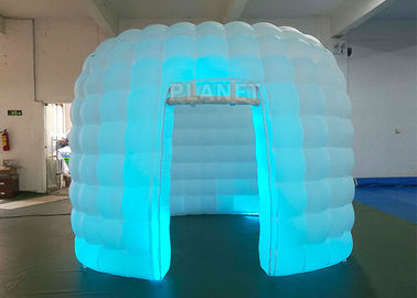 Portable 1 Door White Inflatable Photo Booth / Trade Show Booth For Event