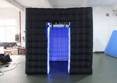 Durable Inflatable Cube Photo Booth Enclosure Black Exterior And White Interior