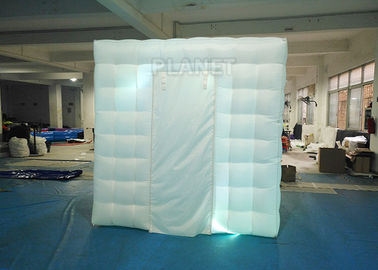 2.4x2.4x2.4m Small White Inflatable Party Cube Booth Tent With 2 Doors