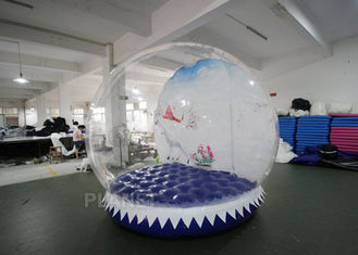 Shopping Mall Life Size Snow Globe 0.8mm Clear PVC Material For Live Show