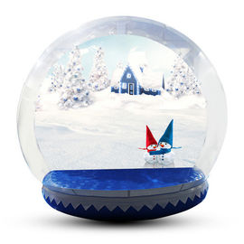 Human Size Snowball Snow Globe / Giant Inflatable Christmas Globe For Festival
