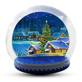 5m Customized Inflatable Snow Globe For Party / Event / Promotion