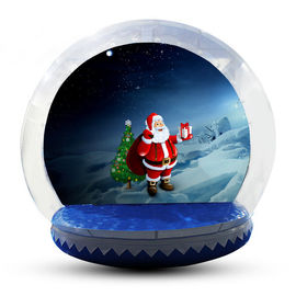 Transparent Inflatable Human Snow Globe Photo Booth With Blower EN71