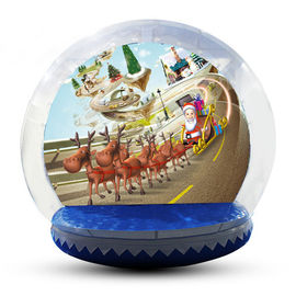 Festival Decoration Airblown Inflatable Snow Globe Customized Logo