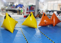 Colorful Sea Inflatable Marker Buoy Hot Air Welded Seams Stainless Fittings