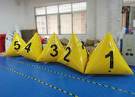 Advertising Waterproof Inflatable Marker Buoy Yellow Color 2 Years Warranty