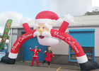 China Santa Claus Christmas Inflatable Archway 210 D Oxford Cloth For Outdoor Event company