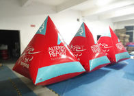 Safety Red Pyramid Water Buoy Markers Customized Size EN14960 Approved