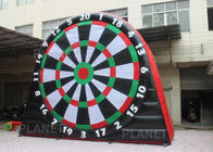 China 5mH Interactive Inflatable Sports Games Blow Up Soccer Dart Board With Velcro Balls company