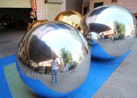China Large Advertising Sliver Inflatable Floating Mirror Balls For Theater Decoration company